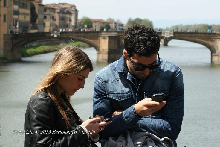 Firenze.....Ponte vecchio....gesti giovanili!!!!