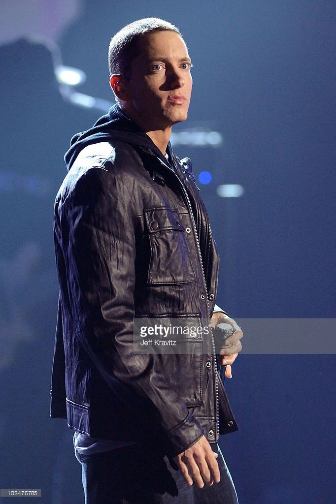 Eminem onstage during the 2010 BET Awards held at the Shrine Auditorium on June 27, 2010 in Los Angeles, California.