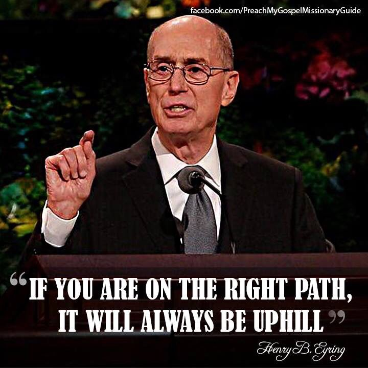 Right path is always uphill - this is what I need to remember! I'm on the right path.