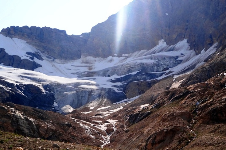 Farnham Glacier in the Purcell Glaciers, Sport and adventure region: Kootenay BC