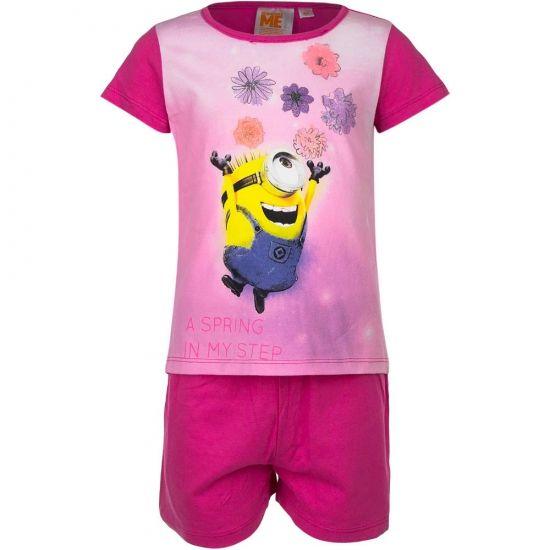 Shortama Minions bloemen  Korte pyjama Minions bloemen. Deze pyjama met korte broek en opdruk van de Minions is gemaakt van 100% katoen.  EUR 14.95  Meer informatie