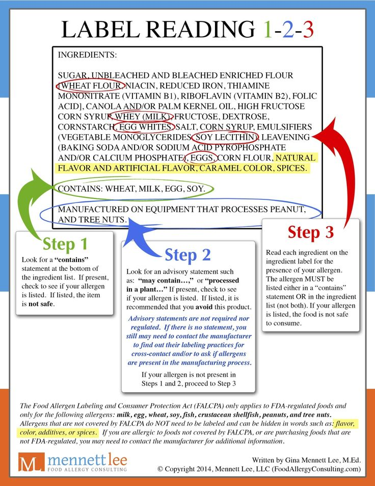 How to read a label in 3 easy steps.  #label #reading #foodallergy #foodallergies
