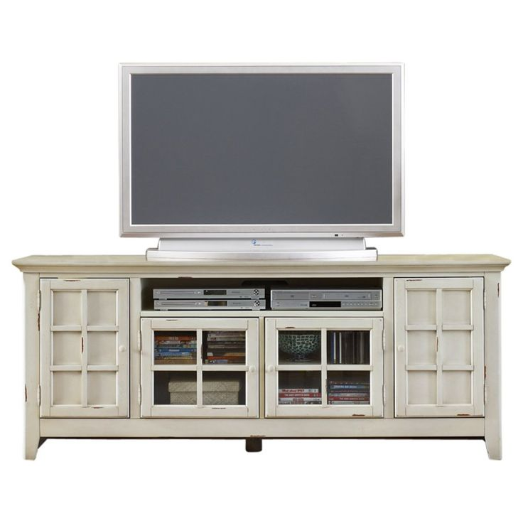 Liberty Furniture New Generation Transitional TV Stand in Vintage White - TV Stands at Hayneedle