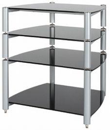 Alphason ST560 4-Shelf Rack in Silver