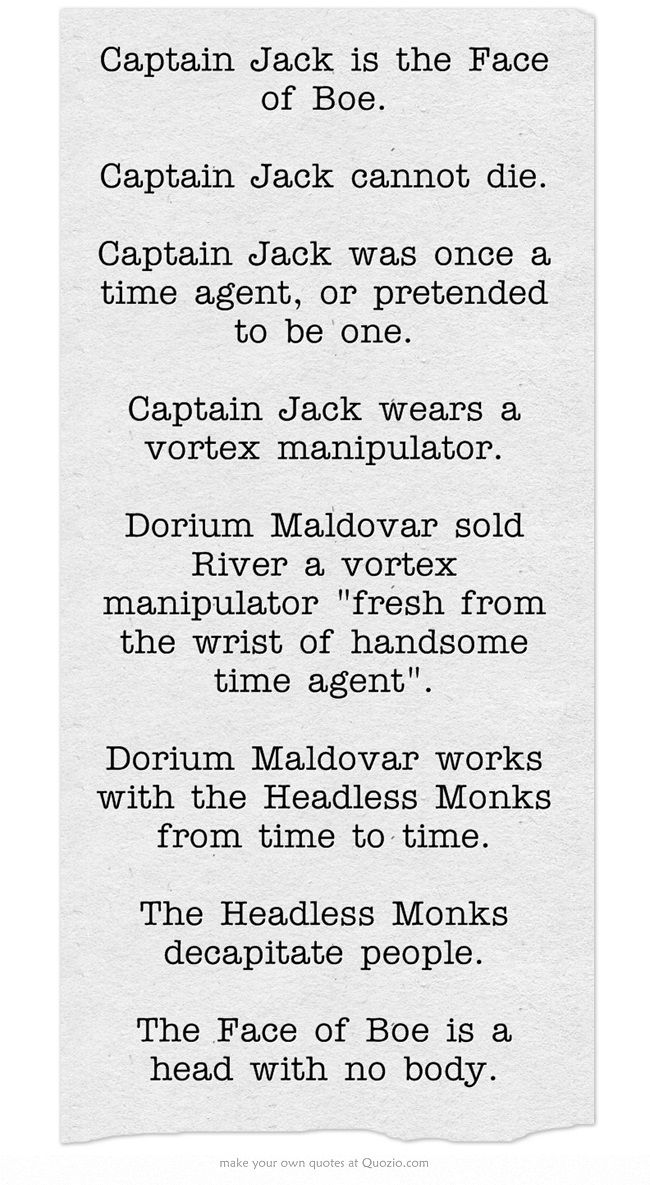 doctor who mind-blowing facts, story of captain Jack