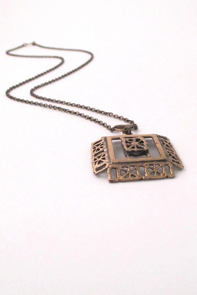 Pentti Sarpaneva, Finland - vintage bronze 'Pitsi' necklace #bronze #Finland #necklace