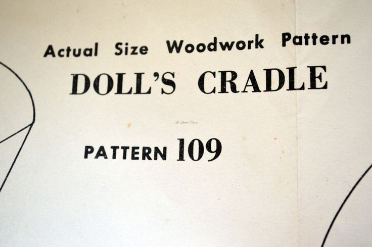 The Sun. News pictorial, Melbourne, pattern 109. Doll's Cradle. 1950's, woodwork pattern. by TheQuiltedCheese on Etsy