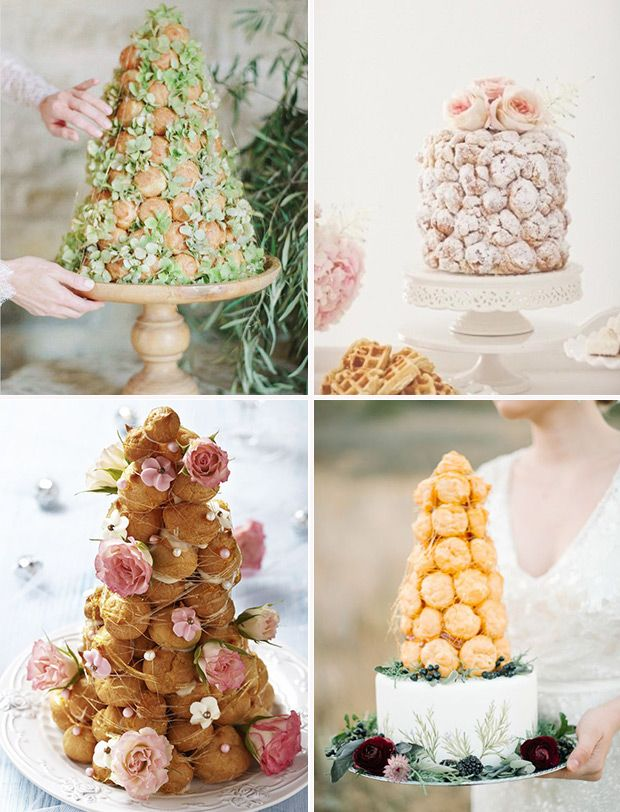 Wedding Croquembouche Ideas | See more on www.onefabday.com