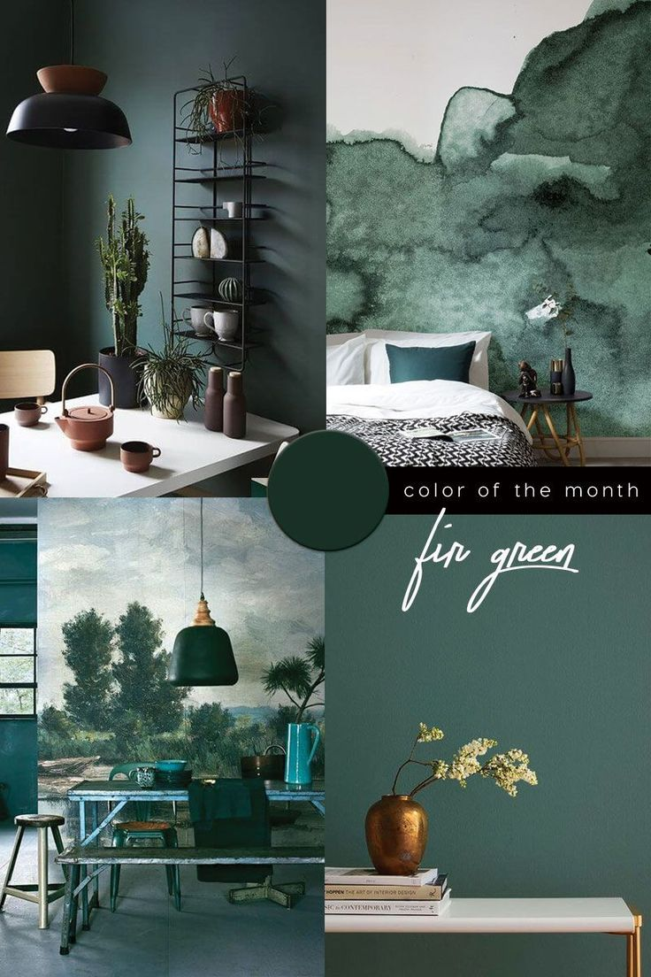Dark Green Color Trend in 2020 Grünraumgestaltung