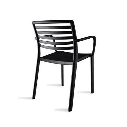 Krzesło LAMA czarne z podłokietnikami