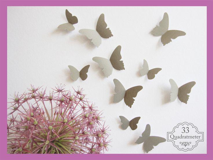 Epic Kinderzimmerdekoration UNSER ORIGINAL edle D Schmetterlinge ein Designerst ck von quadratmeter