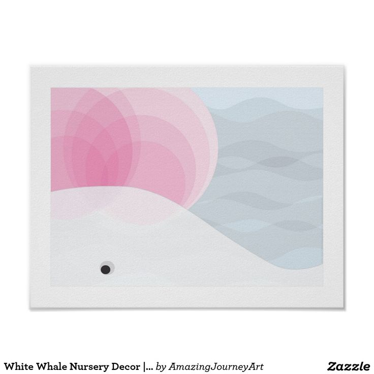 White Whale Nursery Decor   Pink, White and Grey