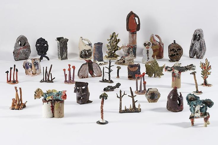 "verylargebuildings: "" Josh Smith Untitled, 2013 ceramic sculptures, set of 34, dimensions variable """