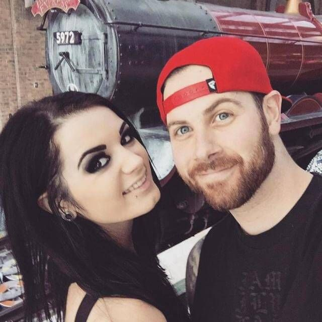 Paige with her guitarist boyfriend Kevin Skaff, best known for 'A Day to Remember'