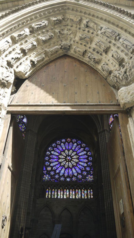 Western rose window at St denis Basilica, France