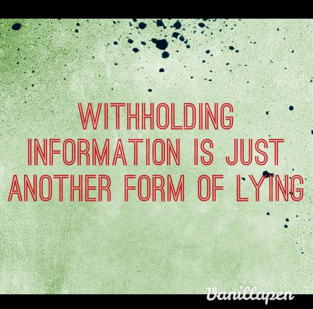 providing and withholding information in a relationship