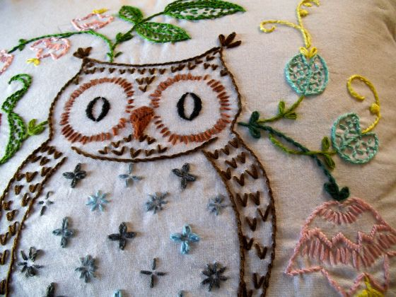 embroidery owl