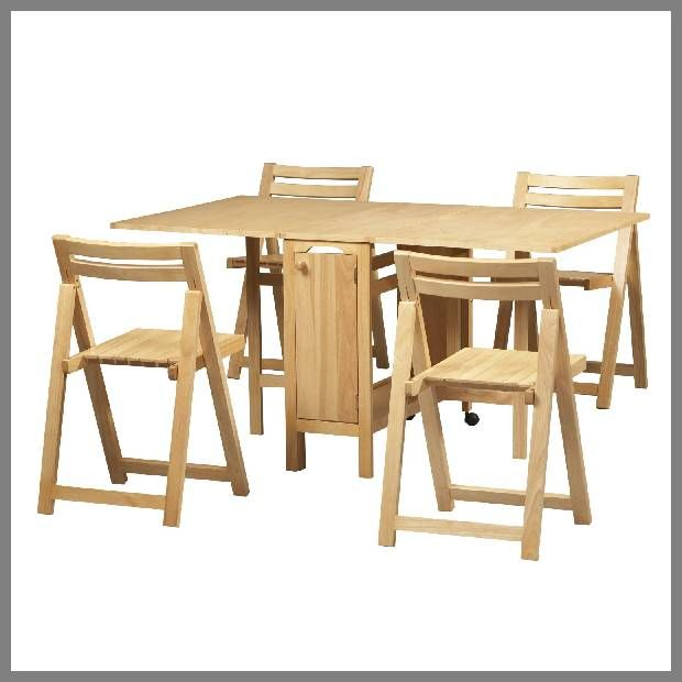 Linon Home 5 Piece Space Saver Dining Set, Brilliant Idea If You Need Room !