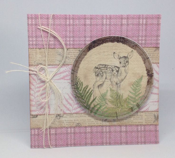 Card made using Enchanted Woodland Collection, card created by Julie Hickey