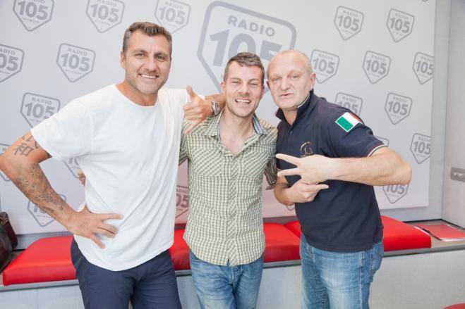 Bobo Vieri e Andrea Pucci a 105 Mi Casa - Foto - Radio 105 Network - Radio Online - Tv Online - Streaming TV