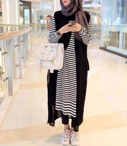 casual sporty hijab, Hijab chic from the street…