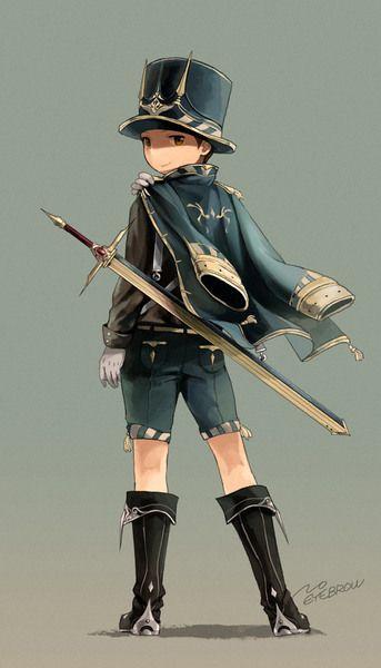 深藍の剣士