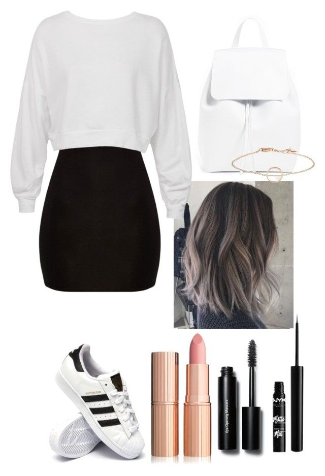 """""""I'm going out"""" by utkonos on Polyvore featuring Sans Souci, adidas, Bobbi Brown Cosmetics and NYX"""