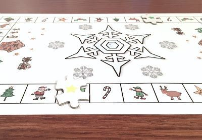 Free Christmas Game Board Template for French Classrooms!   Bonjour-Hello Language Market