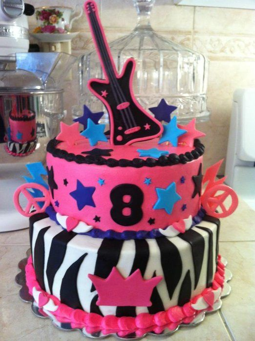 Girls Rock Star Cake Photos | Rock Star Cake - by Christiescreations @ CakesDecor.com - cake ...
