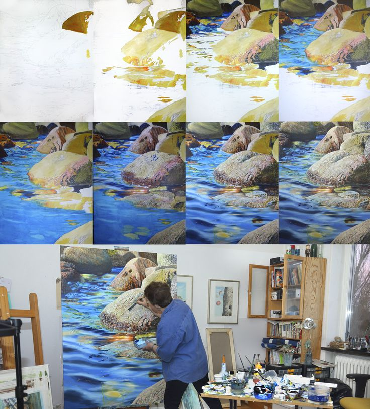 Artist Elizabeth Tyler shows how to paint realistic rocks with acrylics. Will work for watercolor as well.