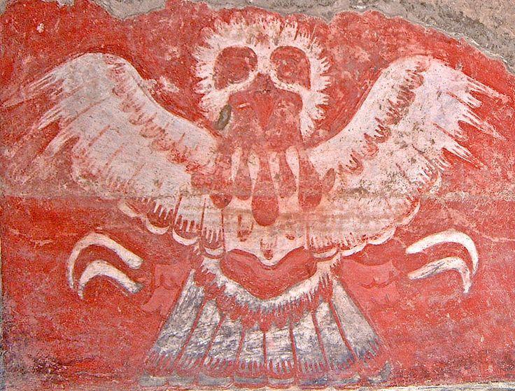 Hawk of Tetitla at Teotihuacan #teotihuacan #tetitla
