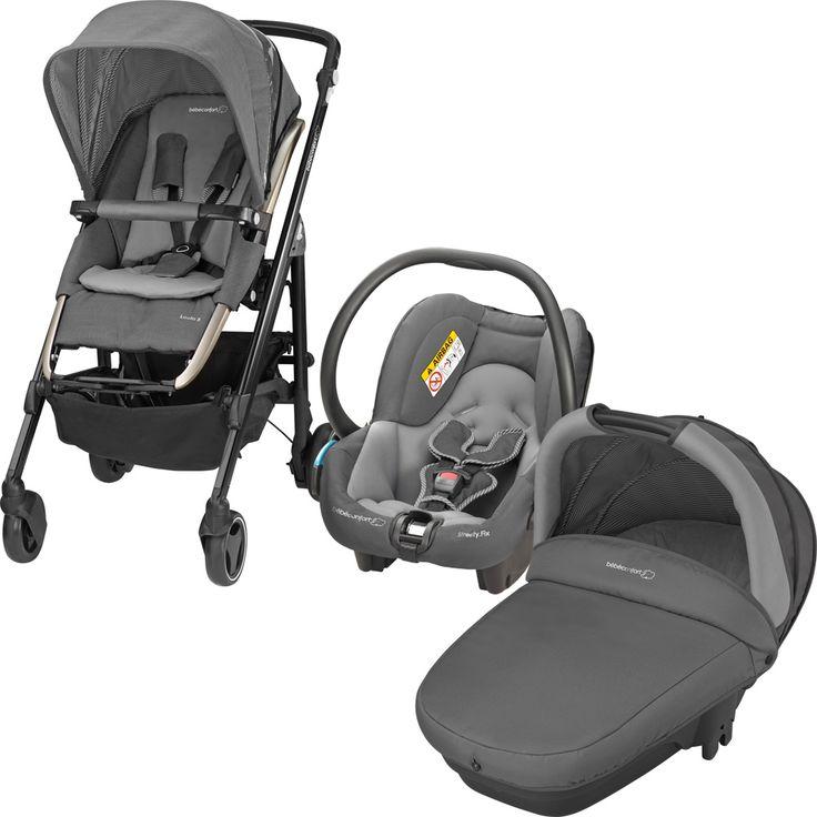 Bebe confort Poussette trio loola 3 cabriofix compacte concrete grey 2015