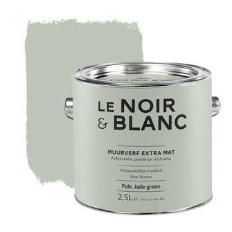 Le Noir & Blanc muurverf extra mat pale jade green van KARWEI voor achter de keuken evt in lambrisering.
