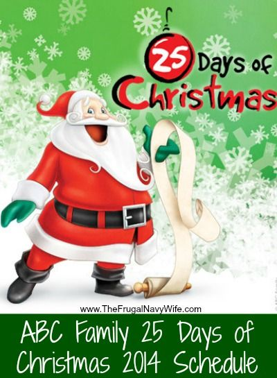 ABC Family 25 Days of Christmas 2014 Movie Schedule .  Which one is your favorite on the list?