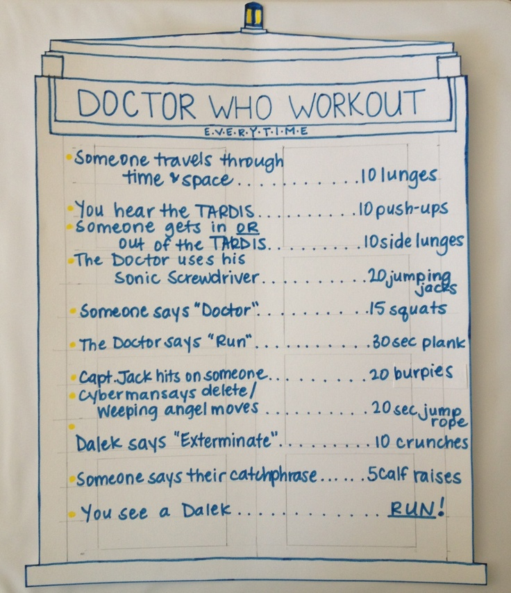 My version of the Doctor Who Workout!
