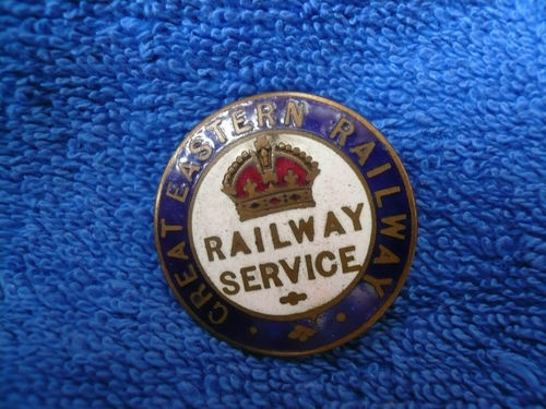 Great Eastern Railway badge, made by J A Wylie, London