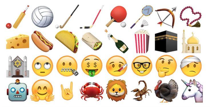 Unicórnio, dedo do meio e queijo: novos emojis já estão entre nós
