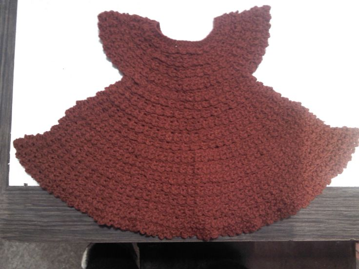 Vestido crochet recién nacido