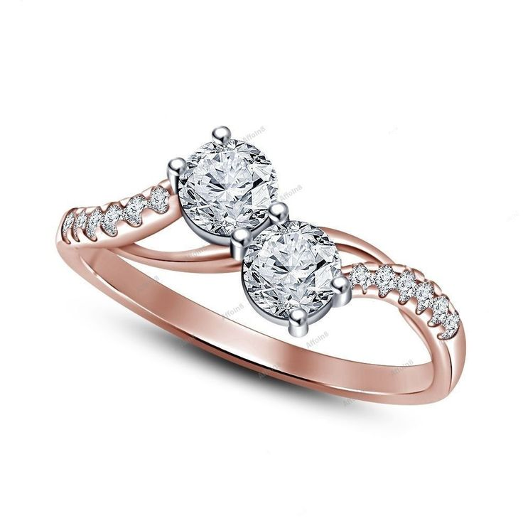 925 Sterling Silver Ladies Simulated Diamonds Classic Gold gp Wedding Band Engagement Ring ZDiqSuJ