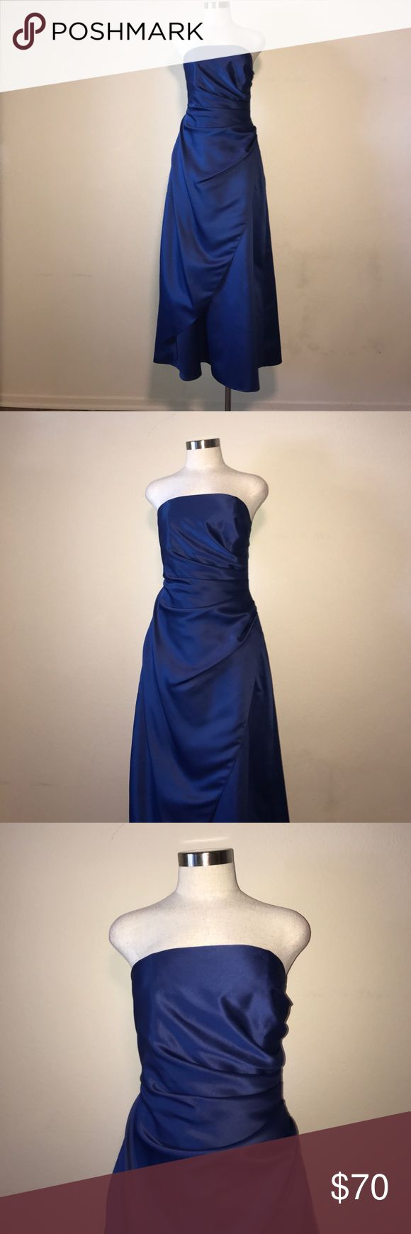Urban Girl Nites Royal Blue Prom Dress Size 7/8❤ Urban Girl Nites royal Blue strapless gown! Perfect for Prom 2017! Size is 7/8 Juniors. Measurements are: Length 47 inches, bust 16 inches and waist 16 1/2 inches! Material is 100% polyester and lining is 100% acetate! Gorgeous and ready to ship! ❤❤❤ Urban Girl Nites Dresses Prom