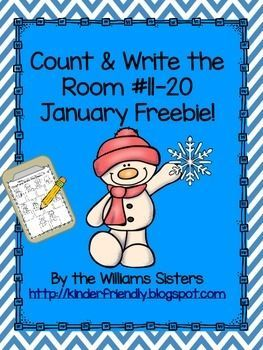 Hi Teacher Friends!  Here is a freebie for you and your students.  This count and write the room center will give your students practice counting and writing those tricky teen numbers.  It is a favorite center with the kindergarten kids.  We hope you and your students enjoy this.