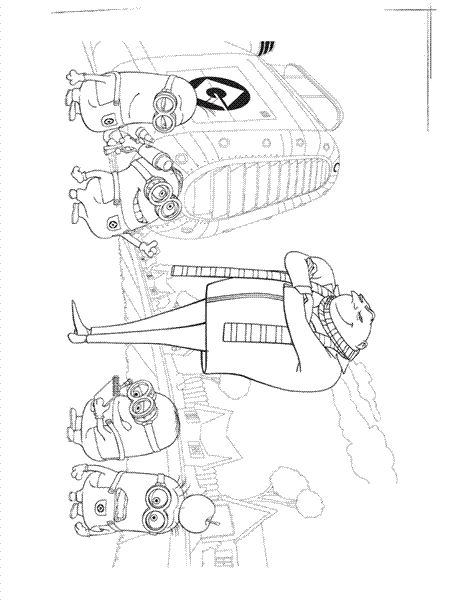 17 Bsta Bilder Om Minions Coloring Pages P Pinterest
