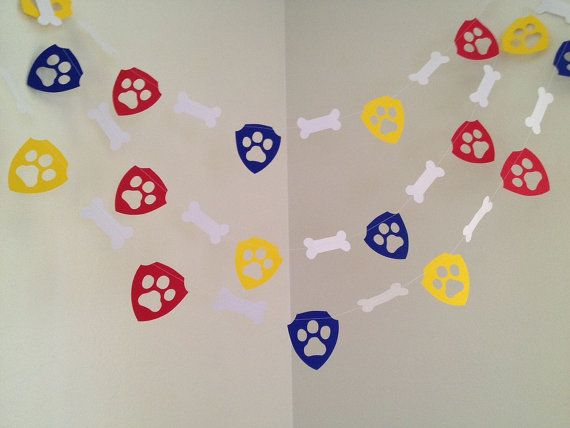Paw Patrol Themed Paper Garland Paw Patrol Paw Patrol Themed Paper Garland Paw Patrol Birthday Decoration Paw Patrol Birthday Party Paw Patrol Room Decorations CUSTOM COLORS 10ft by ClassicBanners