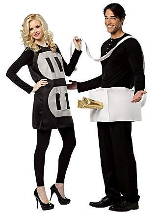 Includes men's plug one piece costume and women's socket dress Costumes do not include shirt, pants and shoes