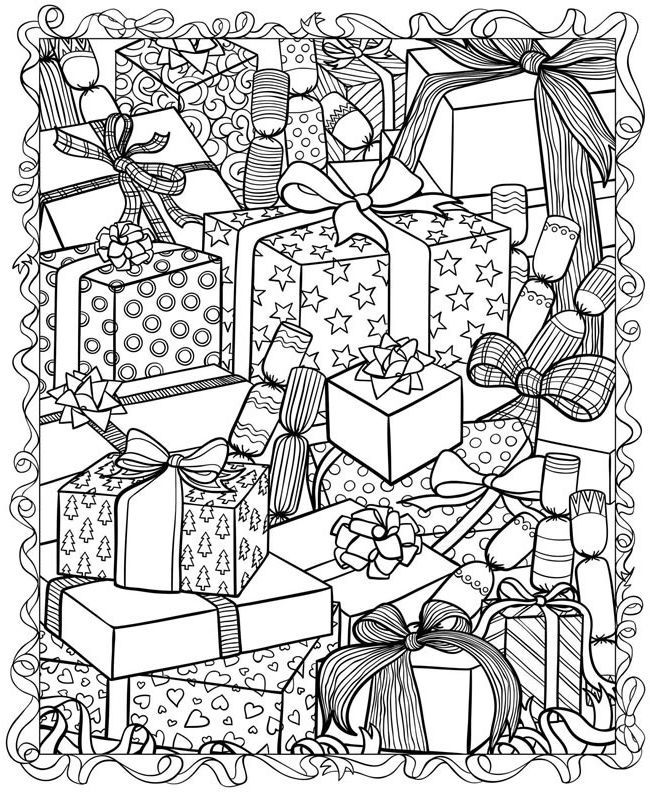 Printable Christmas Coloring Pages For Adults Trend