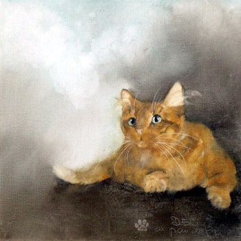 this is adorable: Cat Art, Kunst, Kitty Cats, Les Arts Cats, Kitten Art, Animal Art, Art Cats, Adorable Cat