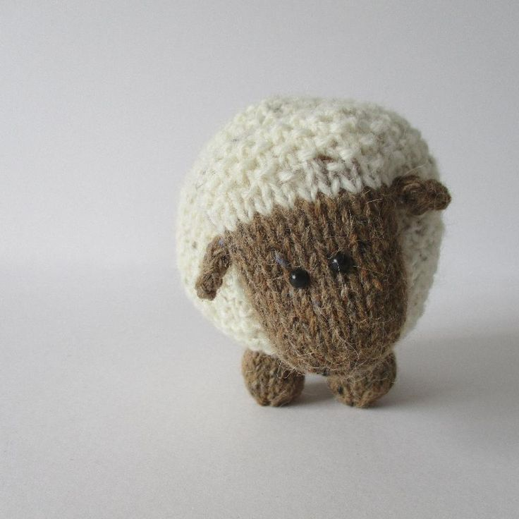 These sheep are knitted using moss stitch, and they make super toys, or pop them…