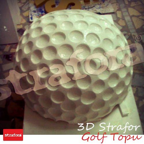 3D Strafor uygulama örneklerimizden golf topu çalışma örneğimiz.  #Strafora #3D #Fuar #Stand #Tasarım #Reklam #golftopu
