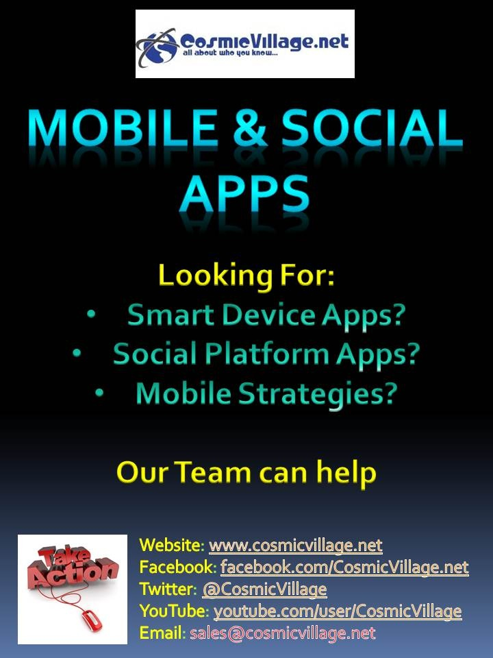 Mobile + Social Apps: Looking to get mobile? How about a Facebook App? Our team can build you a basic smart device app across: iOS (inc. iPad) | Bada | Android | Blackberry | Windows7 for as little as $550 (Inc. GST). We've also got a specialist team for Facebook Apps too! See More: http://bit.ly/zYjniZ: Andriod Apps, Free Android, Device App, Android Apps, Mobile