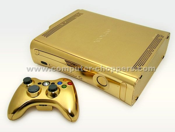 Gold Xbox 360: This is 24-karat Xbox 360 from Computer Choppers